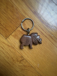 African Wooden Keychain - Lion - Accessories