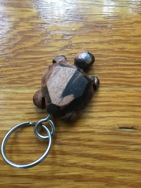 African Wooden Keychain - Turtle - Accessories