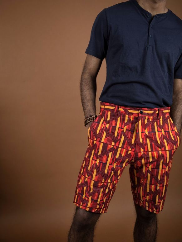 Ejima Ankara Shorts - Men Bottoms