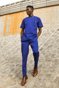S4 Blue Slim Trousers