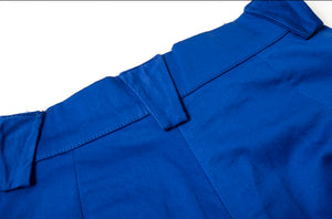 S4 Blue Wide Leg Trousers
