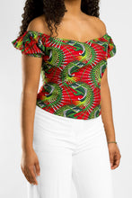 Load image into Gallery viewer, VV Off Shoulder Shirt in Cali Red