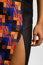 Load image into Gallery viewer, VV Thigh Slit Pencil Skirt in Miami Blue