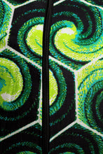 Load image into Gallery viewer, VV Patterned Pencil Dress in Nola Green