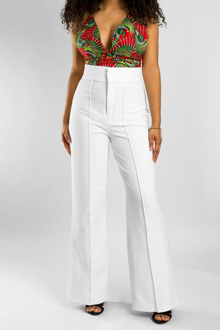 VV White High-Rise Pants