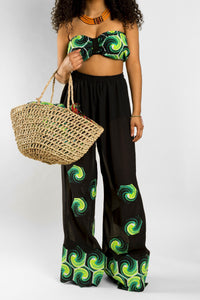 VV Cover Up Pant Set in Nola Green