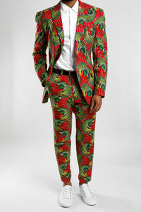 VV Men's Tailored Ankara Suit