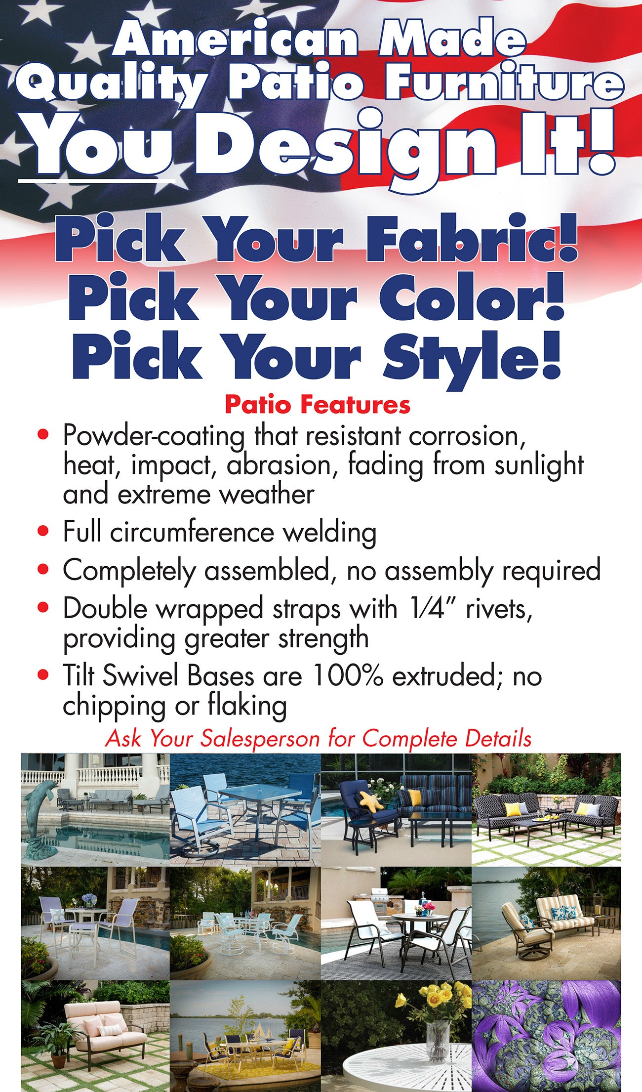 Design Your Own Patio Furniture