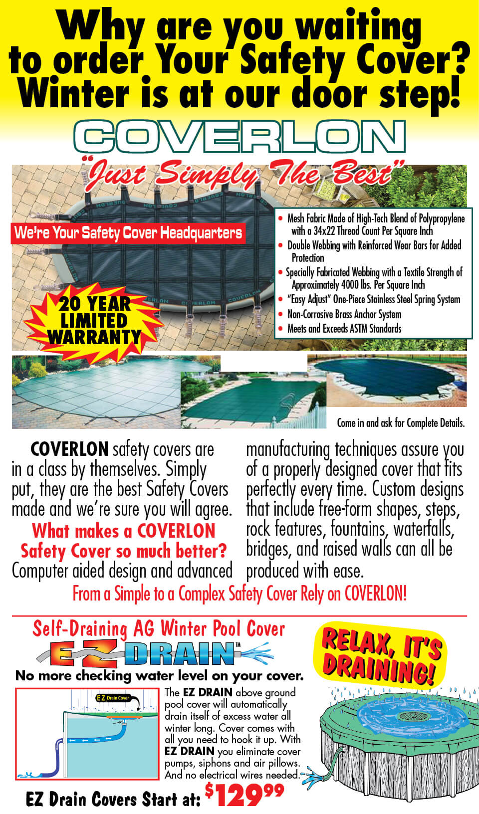 Coverlon Winter Covers Sale
