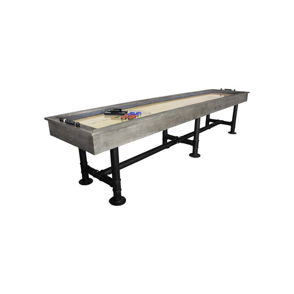 12' Bedford Shuffleboard Table angled view