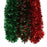 Red & Green Crinkle Thin Strand Garland