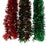Red & Green Waved Garland