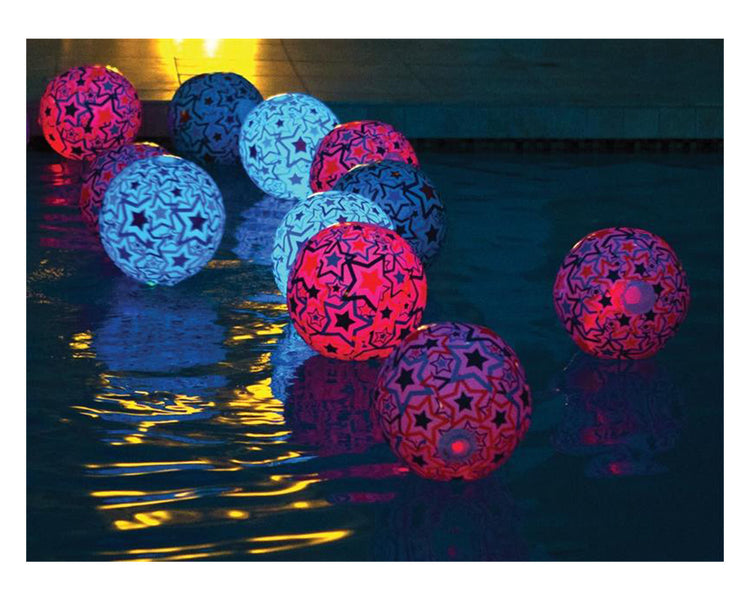 SwimWays Light Up Beach Balls at Night