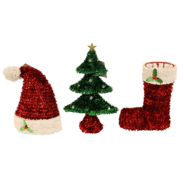 3D Tinsel Tree, Hat or Boot