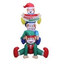 6 ft. Inflatable Stacked Elves