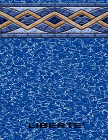 "Esther Williams Liberty Tile Beaded Swimming Pool Liner for 48"" Wall"