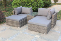 5 pc Aluminum wicker lounge set