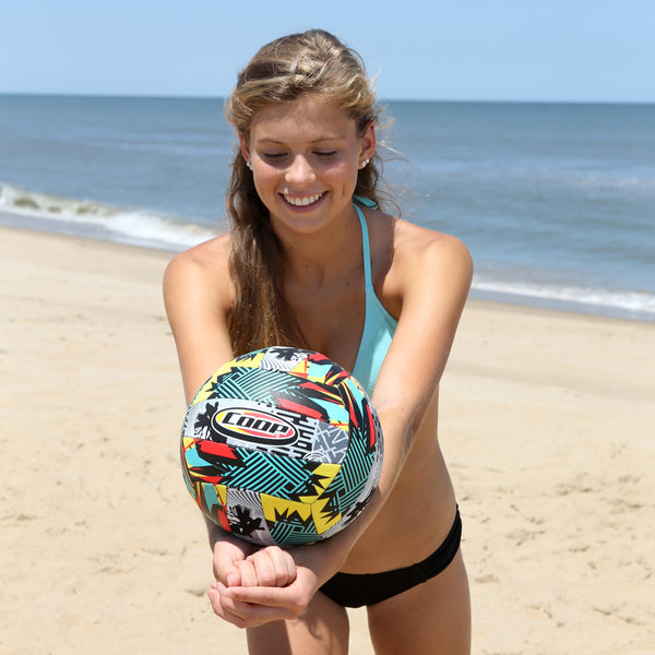 Girl pllaying with a Hydro Volleyball