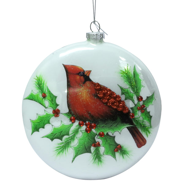 Cardinal Disc Ornament