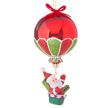 6.25 in. Santa in Hot Air Balloon Ornament
