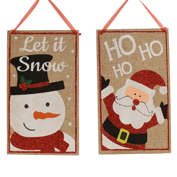 Burlap Santa or Snowman Welcome