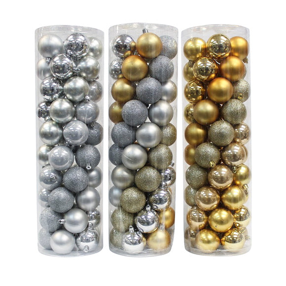 50 Pack Gold & Silver Balls