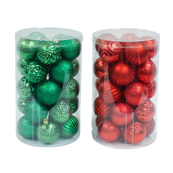 25 Pack Red & Green Shatter Proof Balls
