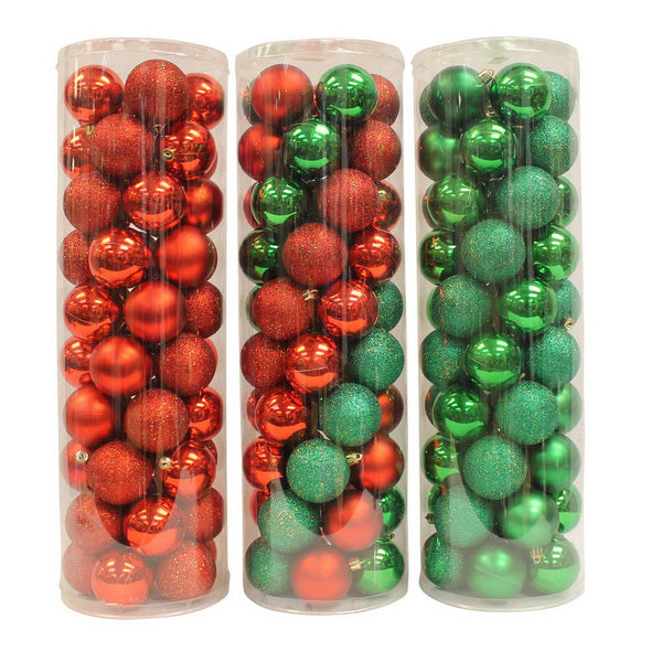 50 Pack Red & Green Balls