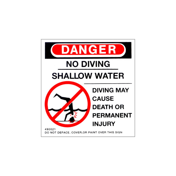 SQUARE DO NOT DIVE LABEL