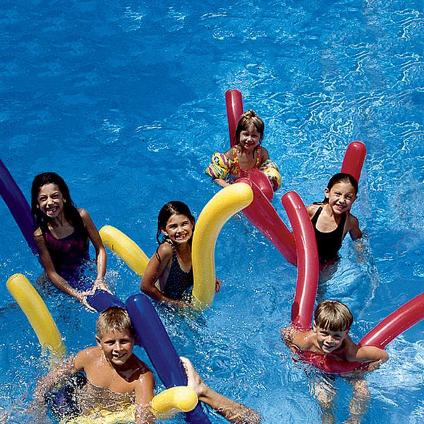 Family enjoying their Inflatable Noodles 6 Pack