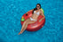 Woman on the Bloody Mary Inflatable Ring