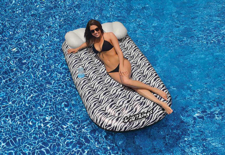 Wild Things Zebra Print Inflatable Mat