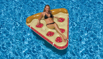 Woman on a Cherry Pie Slice Float