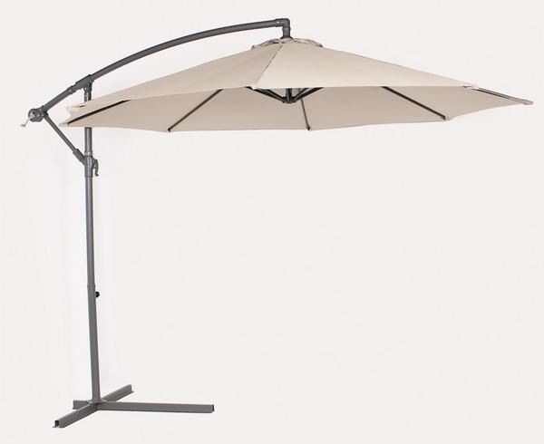 Beige 10' Offset Umbrella