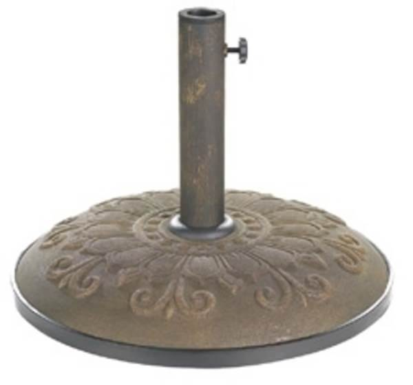 Bronze 55lb Concrete Umbrella Base