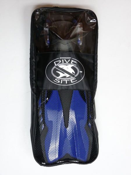 Divesite Adjustable Heel Strap Fins in Carrying Bag