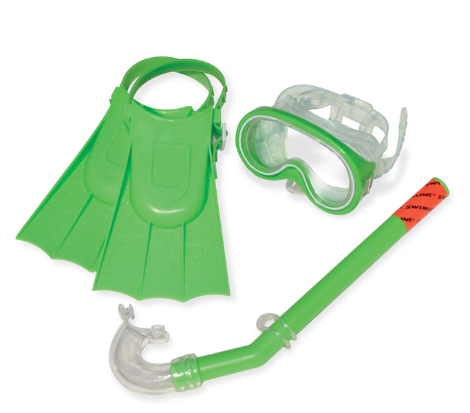 Otter Recreational Mask, Snorkel and Fins in Green
