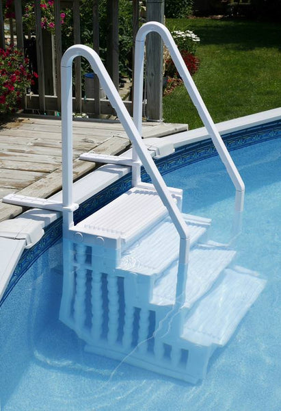 In Pool Step with 2 Handrails