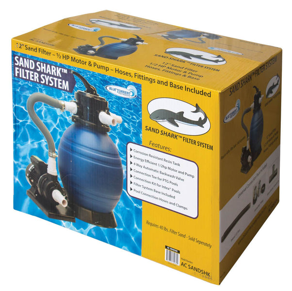 "12"" Sand Shark Sand Filter with .5 HP Pump and Motor"