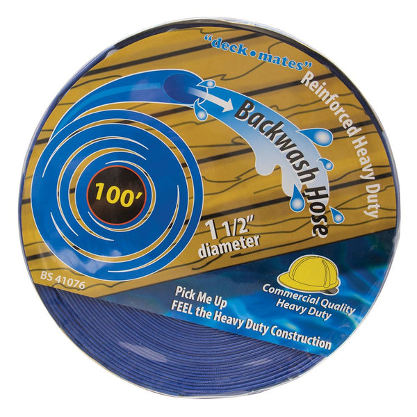 "100' Commercial Backwash Hose for Swimming Pools,  1.5"" Dimater"