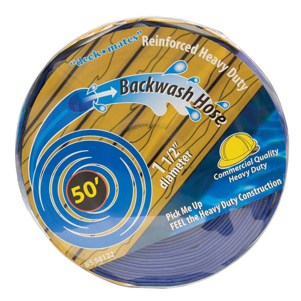"50' Commercial Backwash Hose for Swimming Pools,  1.5"" Diameter"