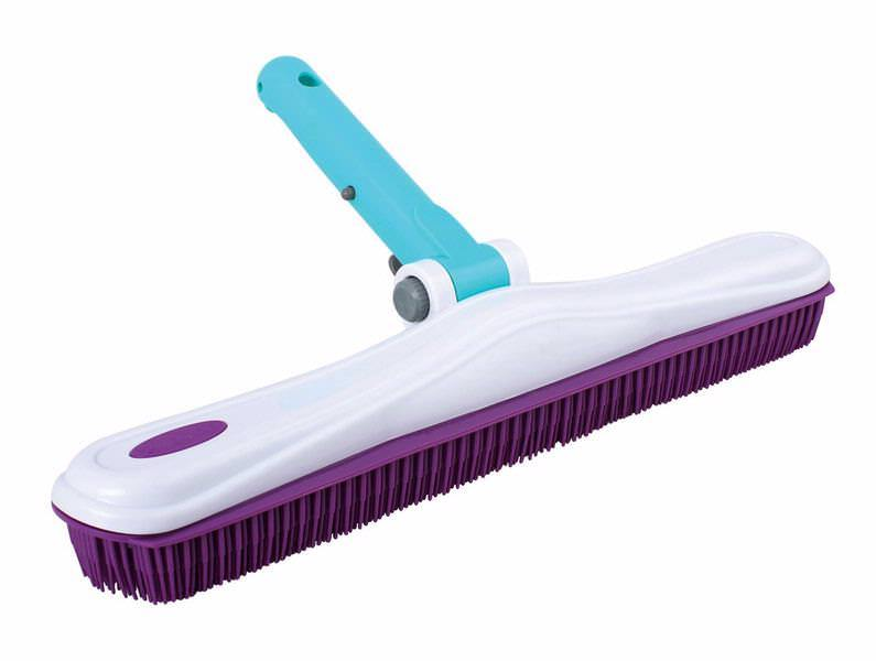 "16"" Rubber Brush with Adjustable Handle"