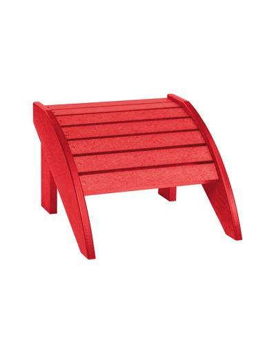 Adirondack Chair Footstool in Red