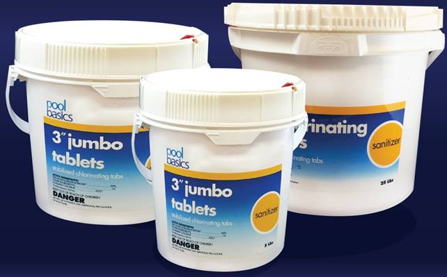 "Pool Basics 3"" Jumbo Chlorinating Tabs"