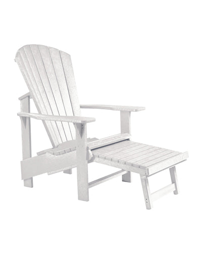 Upright Adirondack Chair Pullout Footstool