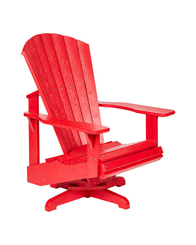 Swivel Adirondack Chair in Red
