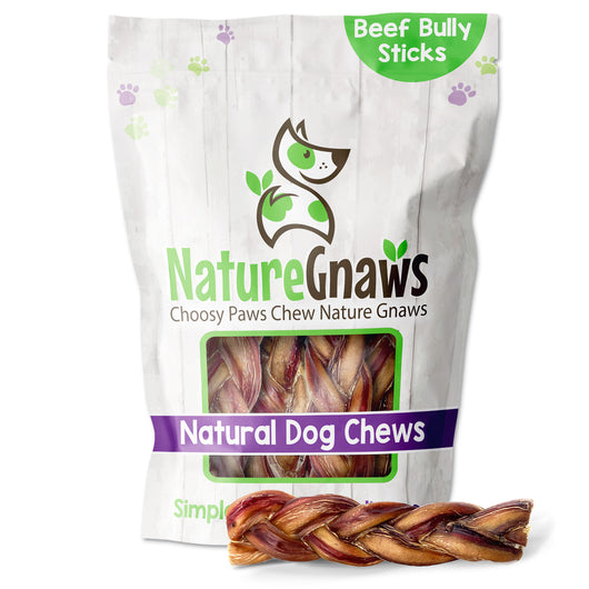 "Braided Bully Sticks 6"" (10 Count)"