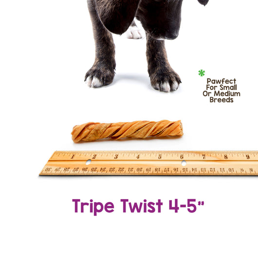 Beef Tripe Twists (250 Count)