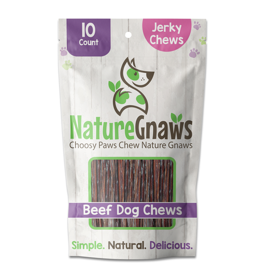Beef Jerky Chews (10 Count) – single bag, front of bag