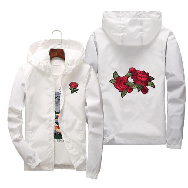 Rose Waterproof Windbreaker